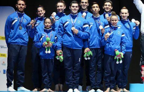 מדליית כסף לנבחרת ישראל באקרובטיקה באליפות העולם הנערכת בבלגיה.