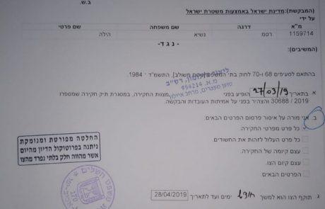 משטרת ישראל חוקרת את נסיבות מותה של צעירה תושבת חולון בחודש ינואר 2019