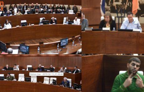 חוסר מיקצועיות וחוסר הנגשה של שידורי ישיבות המועצה בעיריית חולון