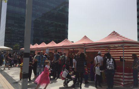 אלפי תושבים מבקרים ועובדים בילו את פורים במרכז עזריאלי חולון