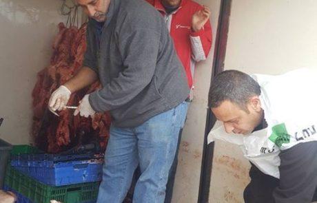 1.6טונות (!) בשר בקר, שהובל ללא תיעוד לגבי מקורו ובטמפרטורה גבוהה בהרבה מהמותר הושמד