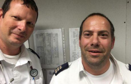 """תושב העיר התמוטט בבית הקפה. צוות מד""""א שהיה סמוך למקום הציל את חייו"""