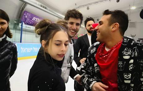 אתמול הגיעו כוכבי הרשתקווין רובין ועמנואל לוילצילומי קמפיין קיץ בהיכל הקרחICE PEAKS