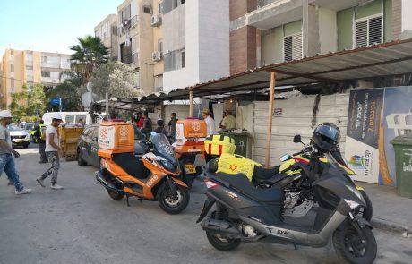 תאונת עבודה – פועל נפצע מכוויות של זפת  באתר בניה ברחוב גרינבוים בחולון
