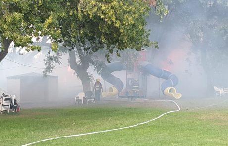 חולון לוי אשכול שריפת פסולת המסכנת תחנת דלק.