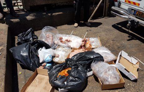 120 קילוגרם בשר מסוכן למאכל אדם הוחרמו מקייטרינג בחולון